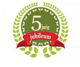 5 jarig jubileum